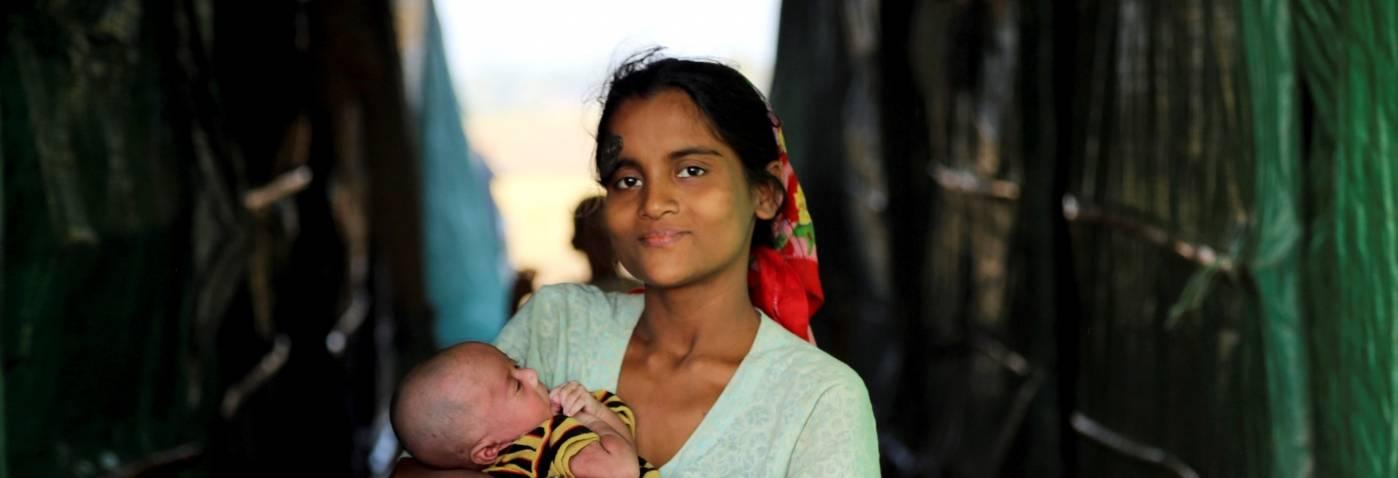 Mange rohingyaer lever i flyktningleire.Foto: UN Photo/David Ohana.