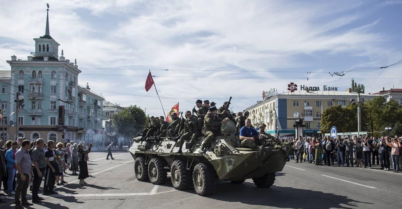 Prorussiske opprørere øst i Ukraina i2014. Foto: NTB Scanpix/Reuters/Marko Djurica.