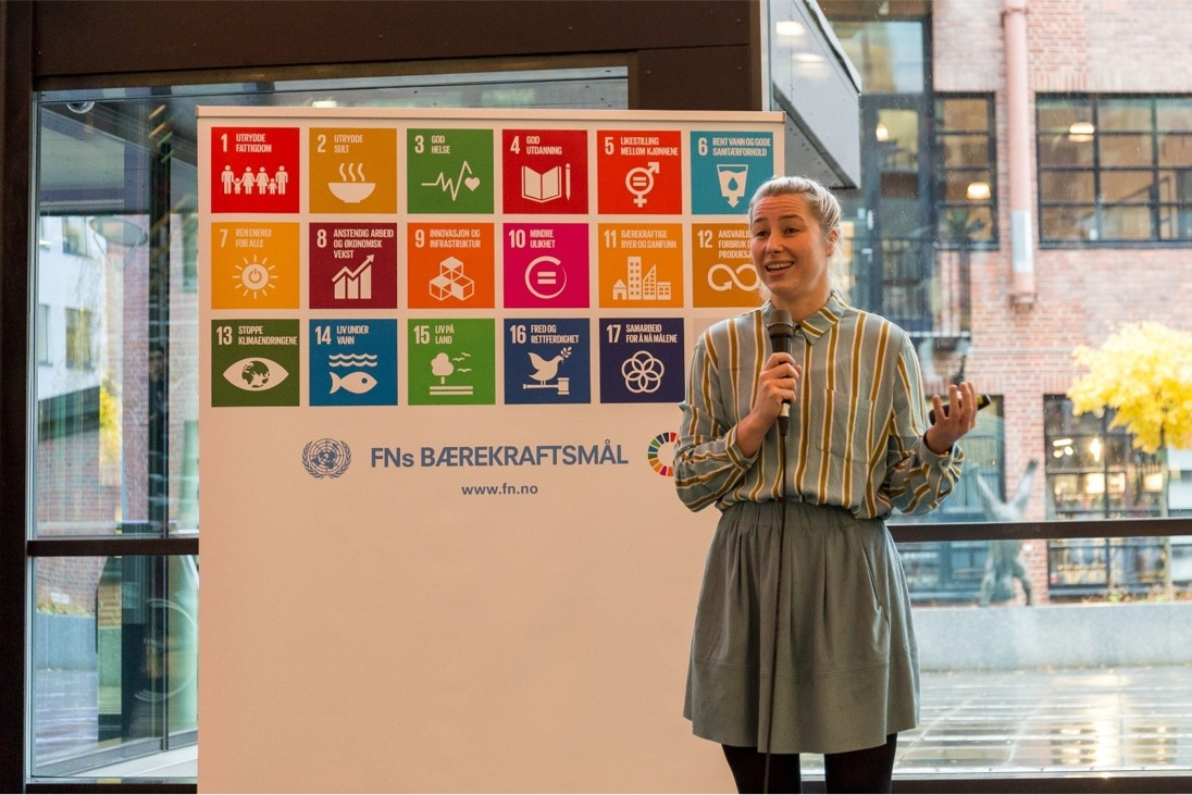 FN-sambandet holder foredrag på Nydalen skole Foto: FN-sambandet