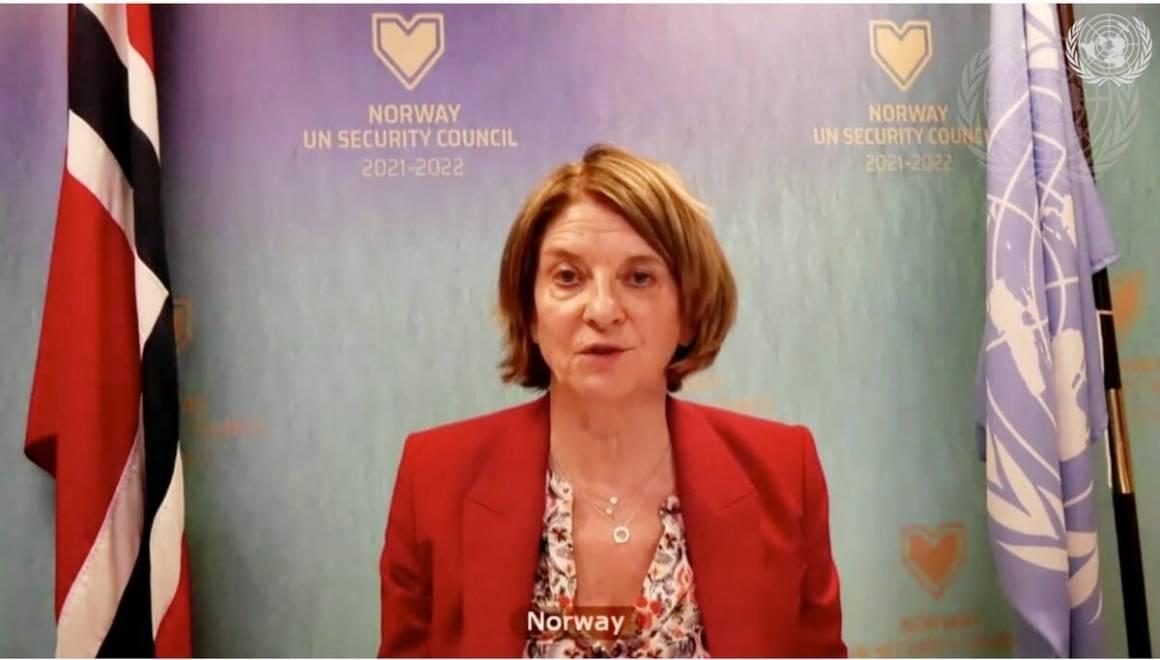 Norges FN-ambassadør Mona Juul representerer Norge i Sikkerhetsrådet. Siden vi ble medlem for drøyt tre måneder siden har Norge deltatt i 94 møter og holdt over 50 innlegg. Foto: UN Photo/Evan Schneider