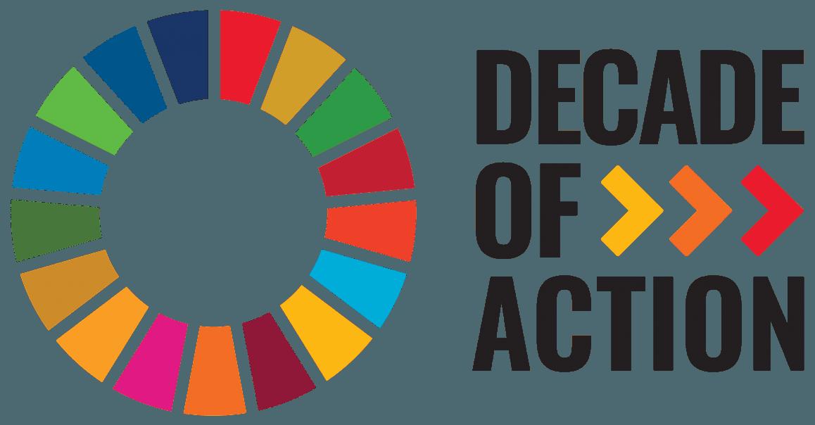 Logoen til Decade of action 2020