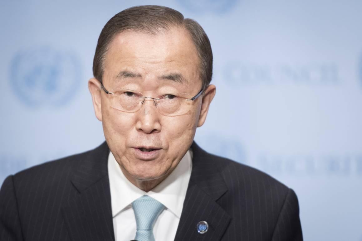 Ban Ki-moon under en pressekonferanse tidligere denne uka.