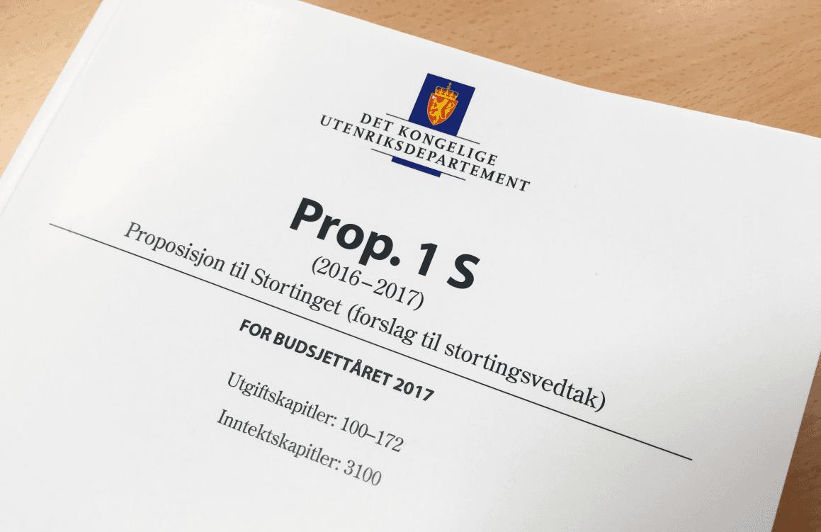 Statsbudsjettet 2017.