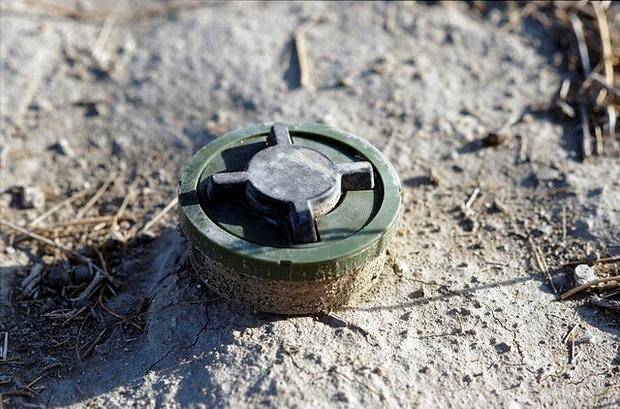 Landmine i Afghanistan. UN Photo/Luke Powell