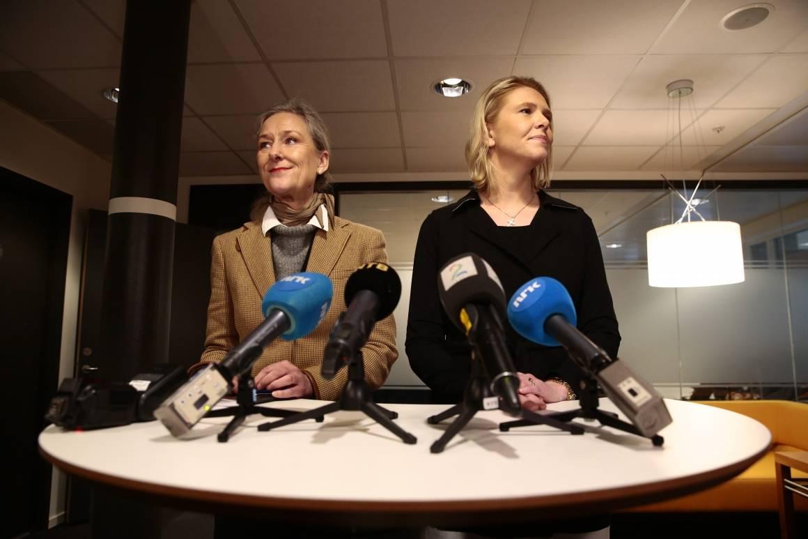 Innvandrings- og integreringsminister Sylvi Listhaug (Frp) tok i mot FN-utsending Pia Prytz Phiri på sitt kontor i Justisdepartementet i Oslo onsdag 27. januar. Foto: Håkon Mosvold Larsen / NTB scanpix.