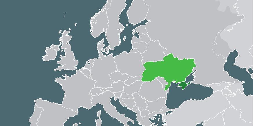 Krim-halvøya og Ukraina. Kart: Wikipedia / Creative Commons Attribution-Share Alike 3.0.