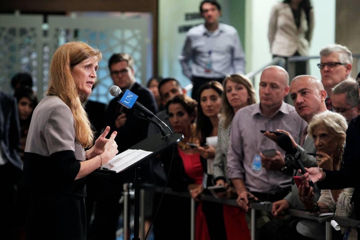 Foto: USAs tidligere FN ambassadør, Samantha Power, i 2013. Nå er Power nominert til direktørstillingen i USAID. Foto: UN Photo/JC McIlwaine