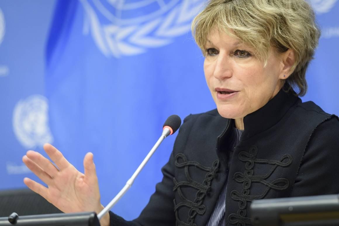 FNs spesialrapportør Agnes Callamard. Foto: UN Photo/Loey Felipe