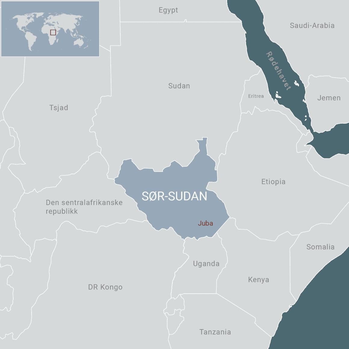 Kart over Sør-Sudan. Ill: FN-sambandet