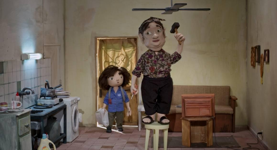 Utsnitt fra filmen Tårnet av Mats Grorud. Her ser vi Wardi og bestemoren Rozette..
