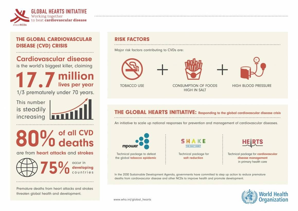Figur - Hjerte og karsykdommer. Bilde: WHO