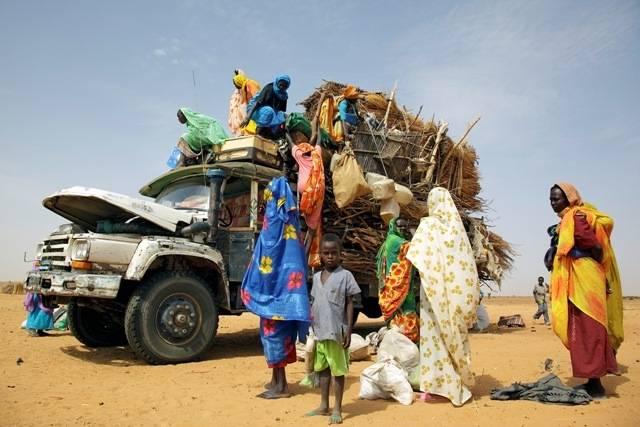 Internt fordrevne flyktninger i Sudan. Bilde: UN Photo/Oliver Chassot