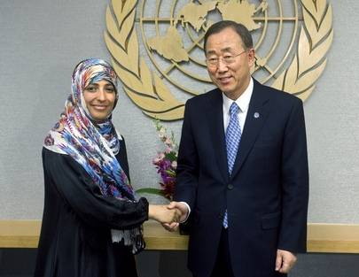 Tawakkul Karman fra Jemen fikk Nobels Fredspris i 2011 UN Photo/Eskinder Debebe
