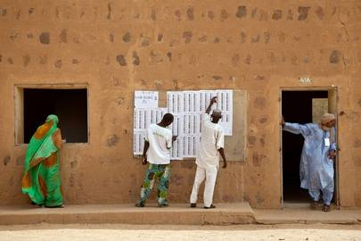 Presidentvalglokale 2013. Foto: Blagoje Grujic/UN Photo