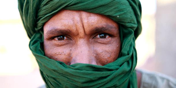 """Bildet viser ensharawi-flyktning i """"27. februar""""-leiren nær Tindouf Algerie. Foto: UN Photo/Martine Perret"""