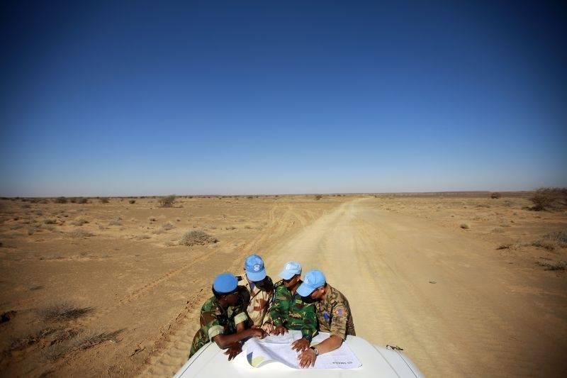 MINURSO-soldater i Vest-Sahara. Martine Perret/UN Photo