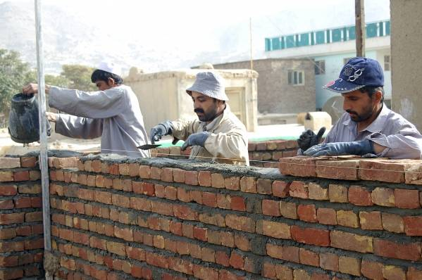 Bygningsarbeidere i Kabul. Foto: UN Photo/Jawad Jalali