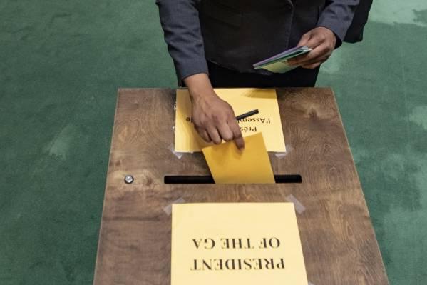 17. juni var det valg til Sikkerhetsrådet. Foto:UN Photo/Eskinder Debebe
