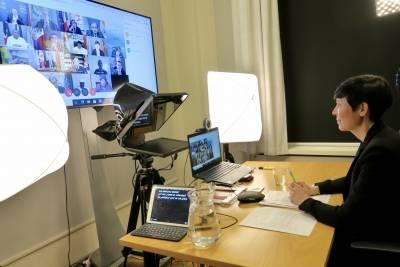 Utenriksminister Ine Eriksen Søreide holder sitt første innlegg under Norges medlemskap i Sikkerhetsrådet. Foto: Utenriksdepartementet