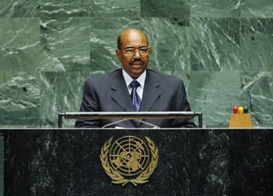 Omar al-Bashir, presidenten i Sudan, taler til FNs generalforsamling. Foto: UN Photo/Marco Castro