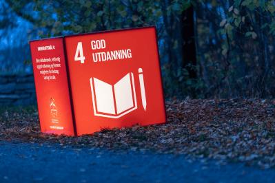 Bærekraftsmål nummer 4 - god utdanning. Foto: FN-sambandet/Eivind Oskarson