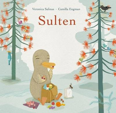 """Bokomslag til """"Sulten"""" av Veronica Salinas og CamillaEngman,utgitt avMagikonforlag 2012."""