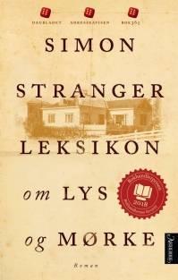Leksikon om lys og mørke, Simon Stranger bokomslag. Exil Design, E Haraldsen.